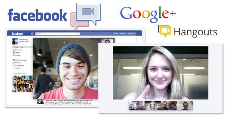 facebook video chat googleplus hangout