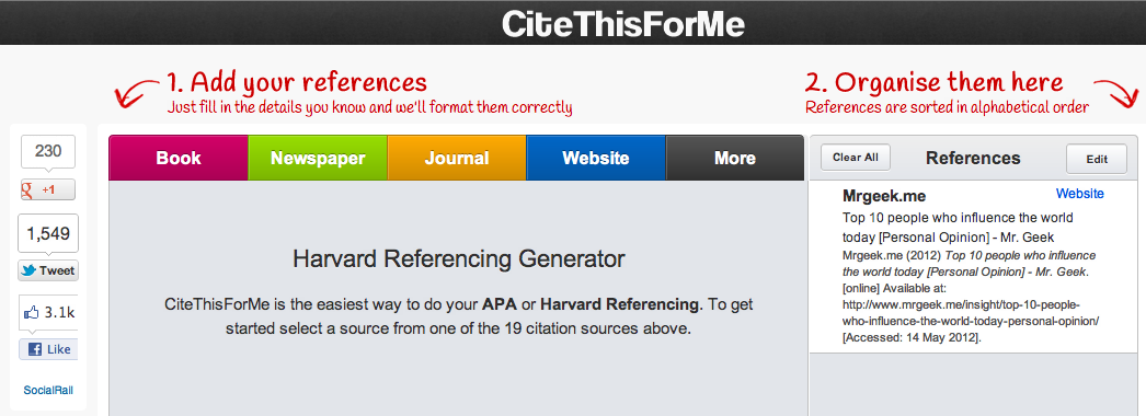 Find creating document references boring? Not anymore, Enter CiteThisForMe.com
