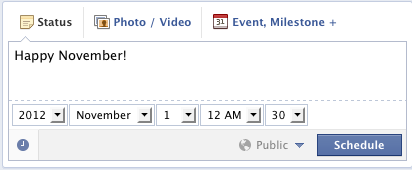 Schedule Facebook Events in the Future