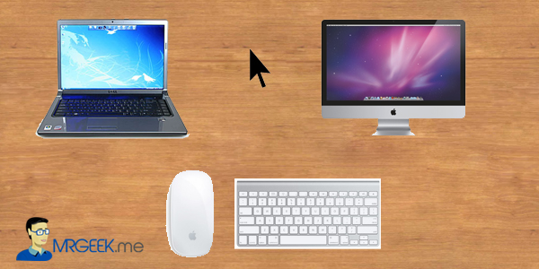 How to use one keyboard and mouse with 2 computers?