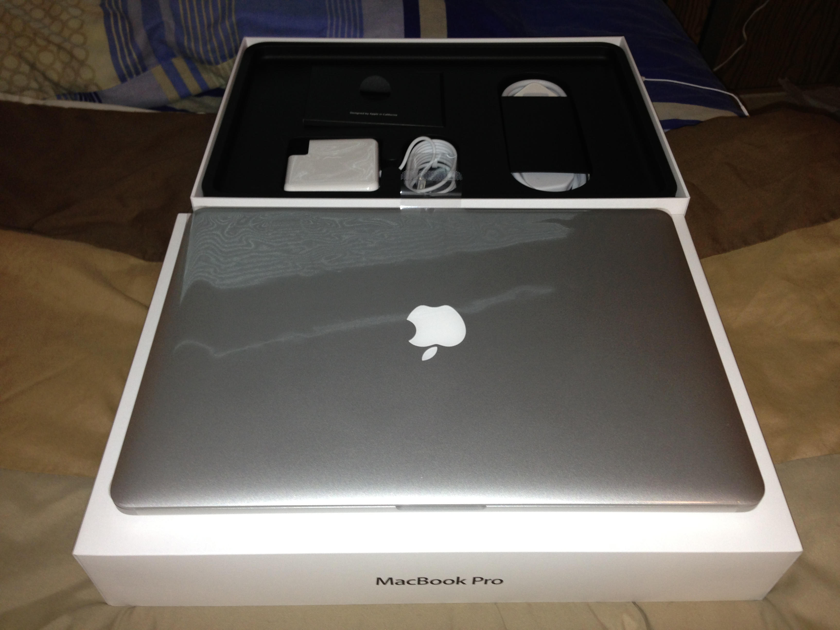 The MacBook Pro Retina and its box