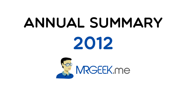 Mr. Geek in 2012 | Annual Summary