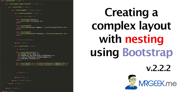 Creating a complex layout with nesting using Bootstrap