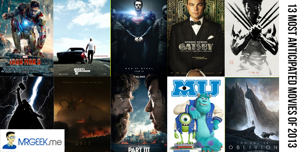 The 13 Most Anticipated Movies of 2013