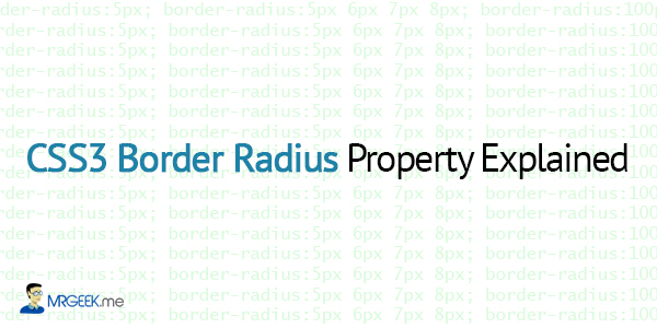 CSS3 Border Radius Property Explained