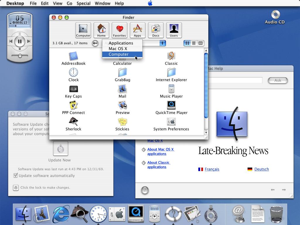 Realsim in old Mac OSX UI