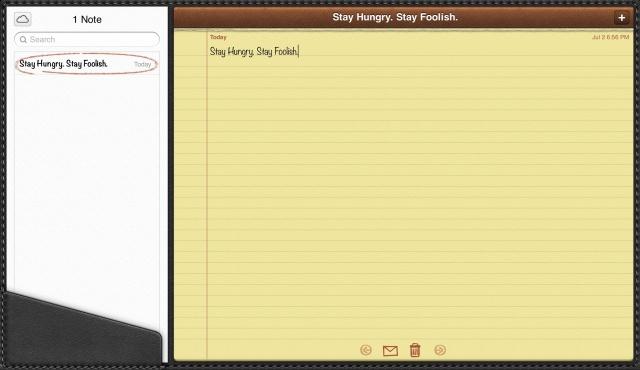 Steve Jobs iPad Leather Notes