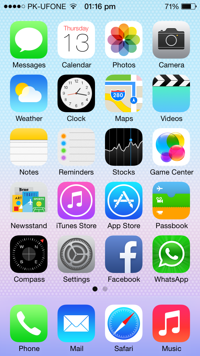 iOS 7 Home Screen Beauty