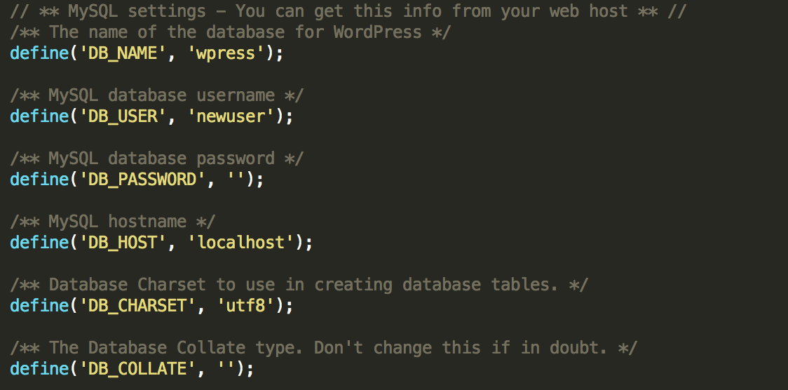 Change Database Details