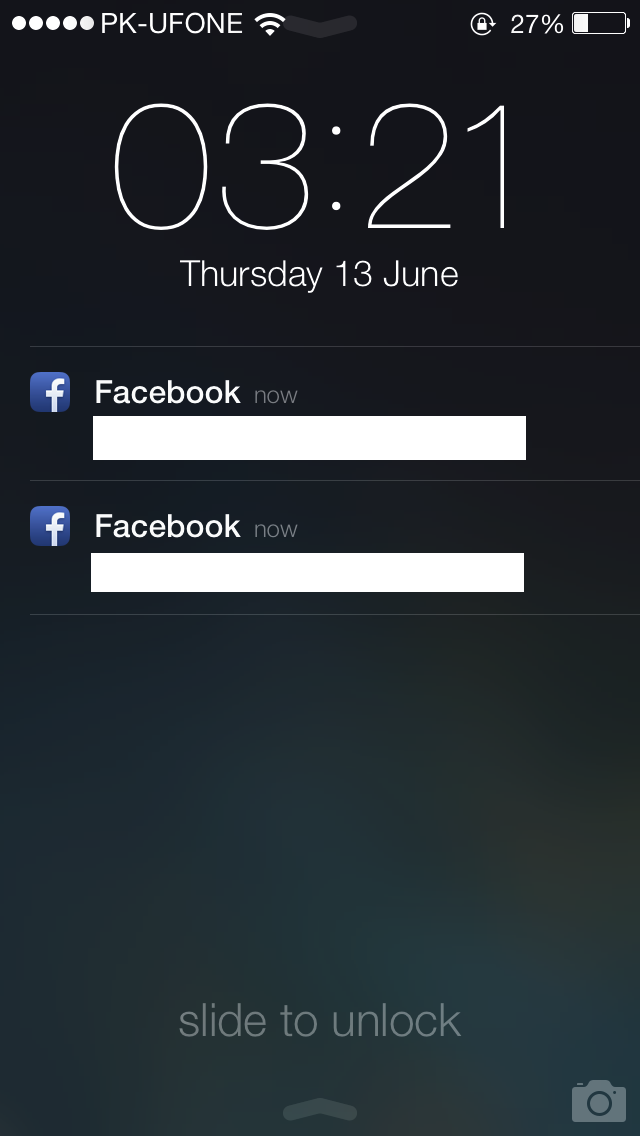 Facebook Notify iOS 7