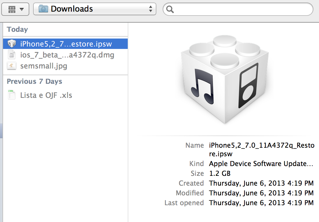 Install iOS 7 2