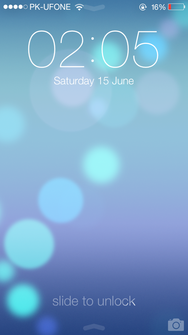 Lock Screen iOS 7