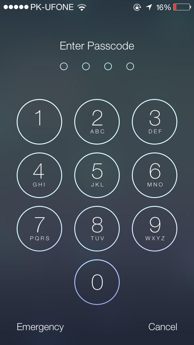 Passcode iOS 7