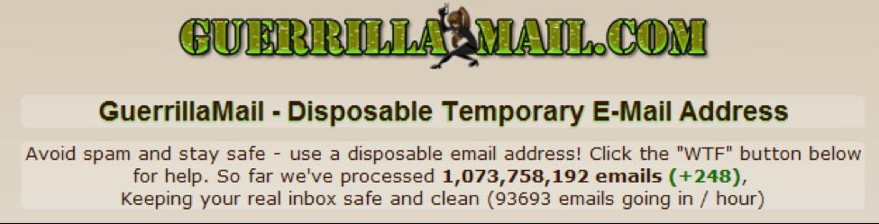 Guerilla Mail 1