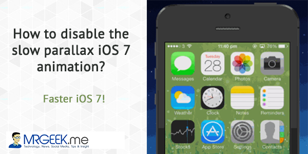 How to disable the slow parallax iOS 7 animation? Faster iOS 7!