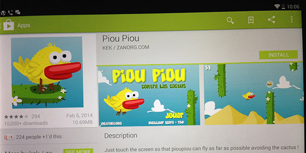 Why Flappy Bird is strikingly similar to Piou Piou?