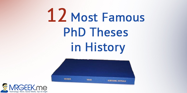 Famous short phd thesis