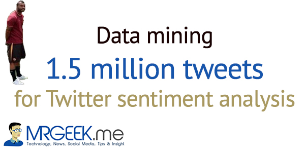Data mining 1.5 million tweets for Twitter sentiment analysis