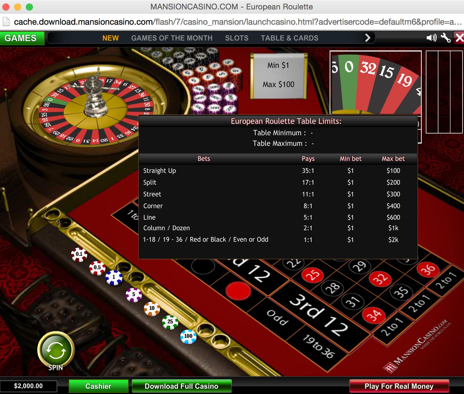mansions casino