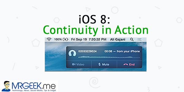 iOS 8: Continuity in action