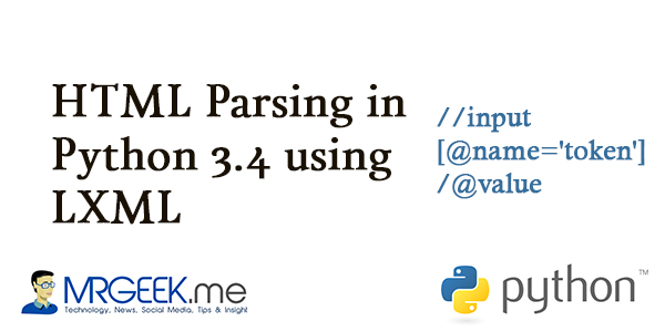 HTML Parsing in Python 3.4 using LXML